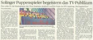 Presseartikel Puppenstars Finale